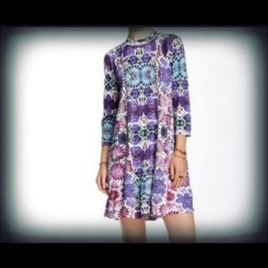 Free People Fiesta Floral Tunic Swing Dress EUC